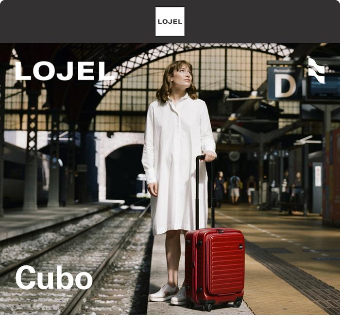 LOJEL|CUBO前開式可擴充拉鍊登機箱 21吋(芥末黃)