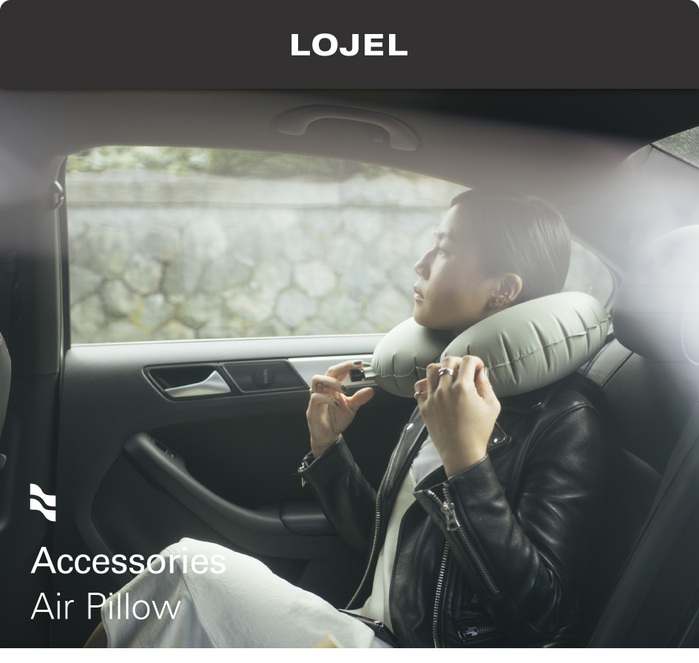 LOJEL|Air Pillow 吹氣頸枕 (灰色)