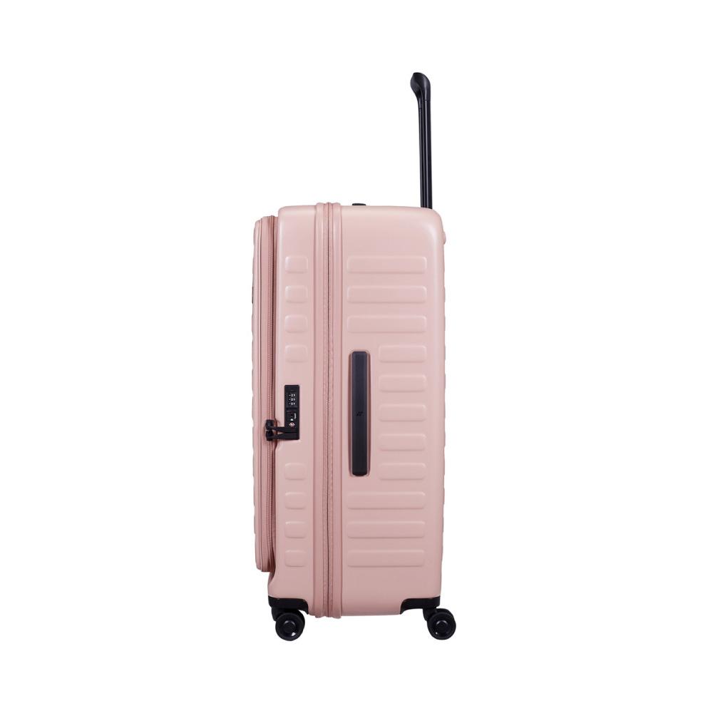 LOJEL|CUBO前開式可擴充 防盜拉鍊行李箱 30吋(限定色- 嫩粉)