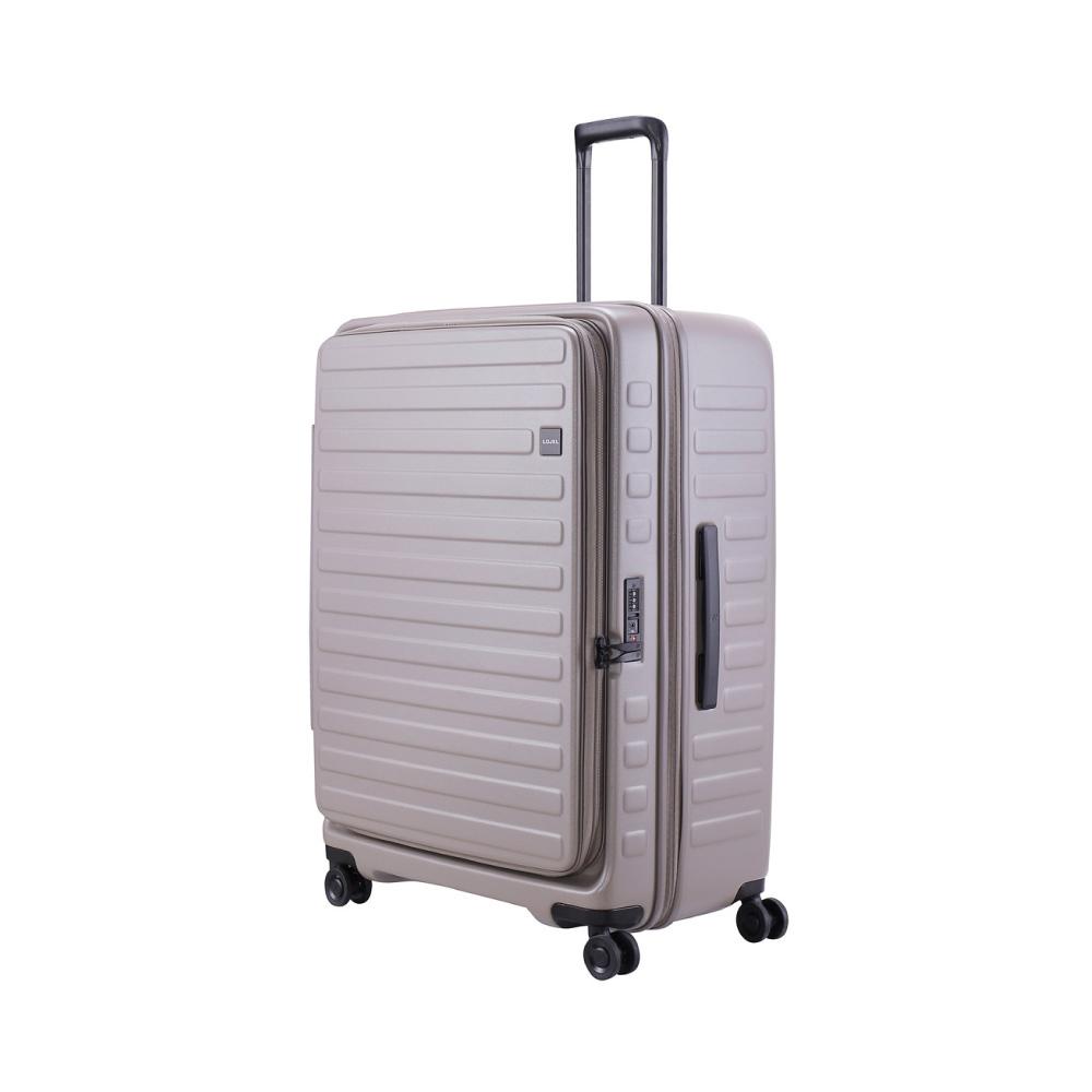 LOJEL|CUBO前開式可擴充 防盜拉鍊行李箱 30吋(限定色- 大地灰)