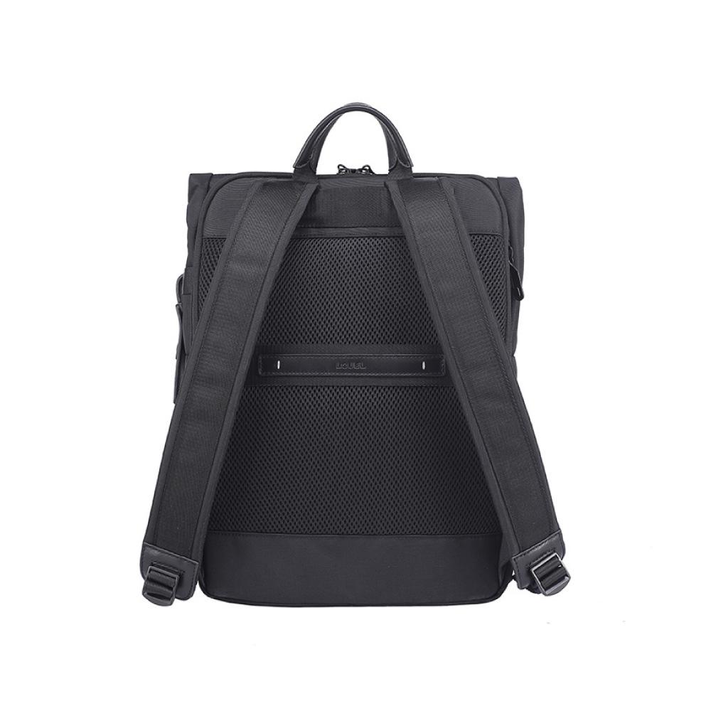 LOJEL|RUBO2 翻蓋差扣式 防盜 電腦後背包( 經典黑)