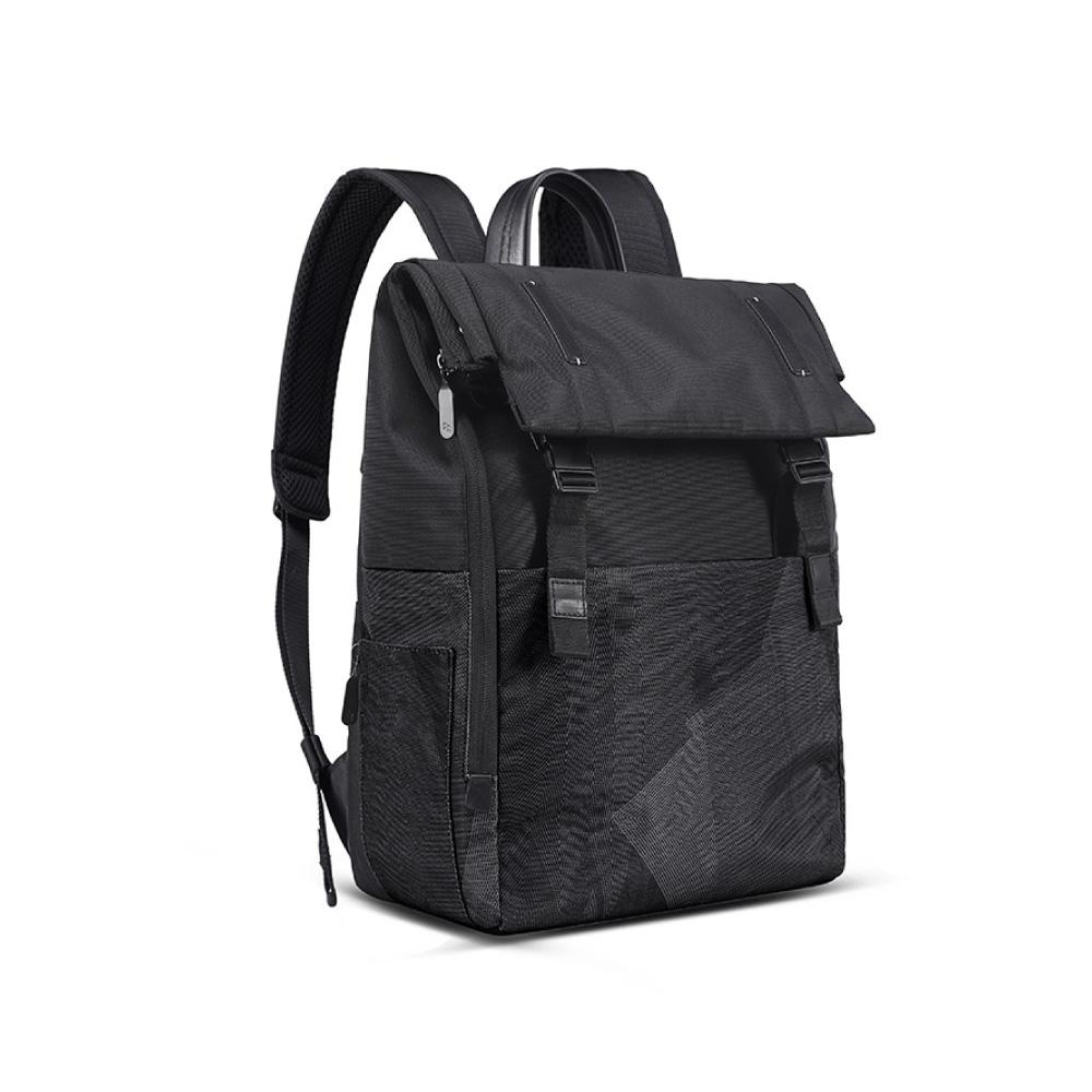 LOJEL|RUBO2 翻蓋差扣式 防盜 電腦後背包( 低調灰)