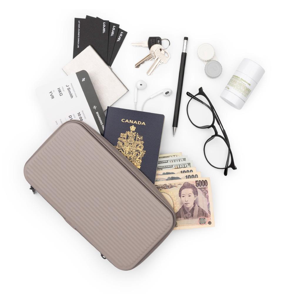 LOJEL|Travel Organizer 硬殼盥洗包(大地灰)