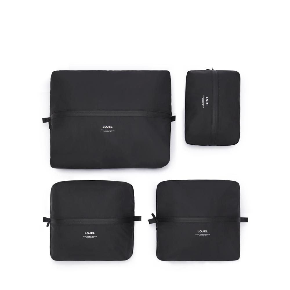 LOJEL|Slash/衣物收納袋(4入裝)(黑色)