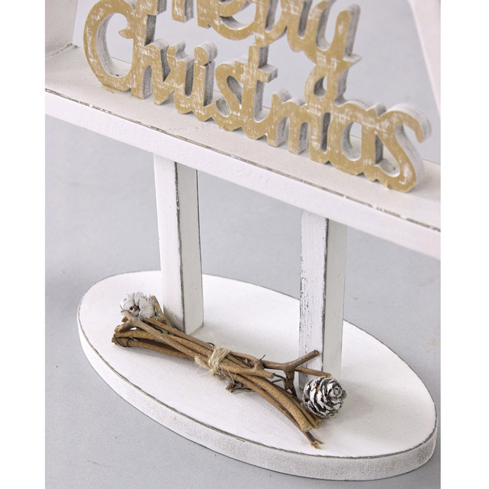 SPICE|聖誕節木頭聖誕樹擺飾-(L)