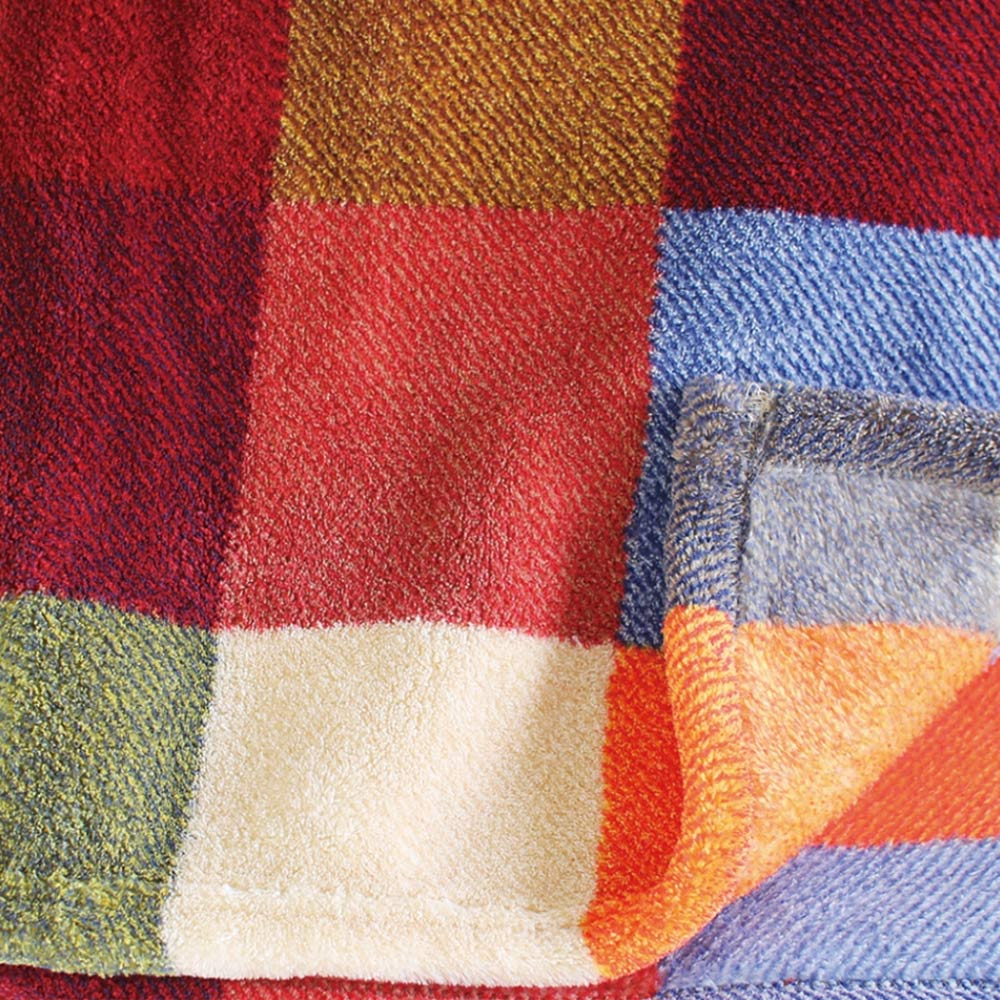 SPICE|日本進口鬆軟毛毯(大)-彩色格子