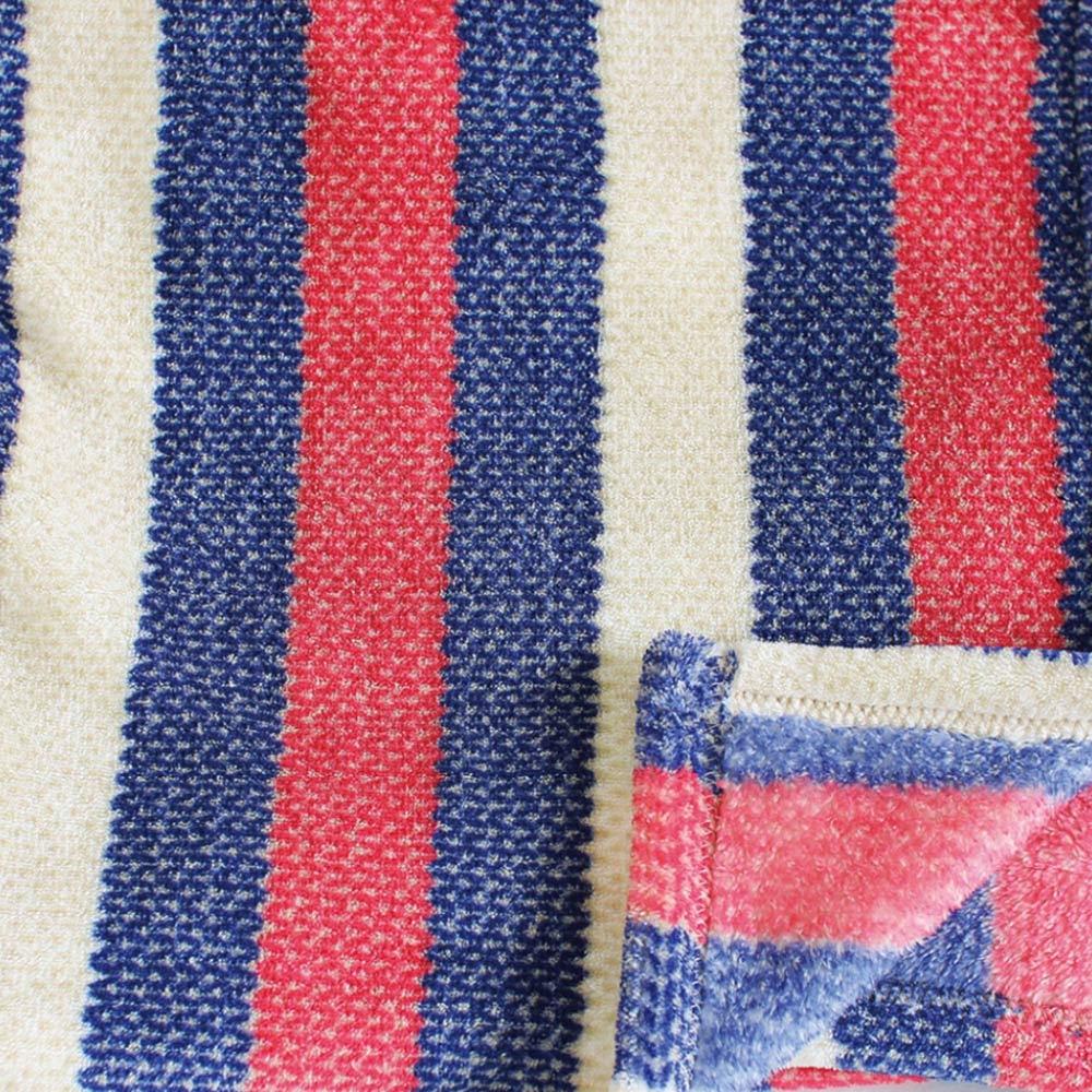 SPICE|日本進口鬆軟毛毯(小)-紅白藍條紋