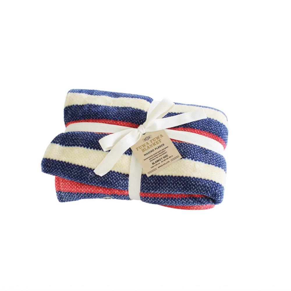 SPICE|日本進口鬆軟毛毯(大)-紅白藍條紋
