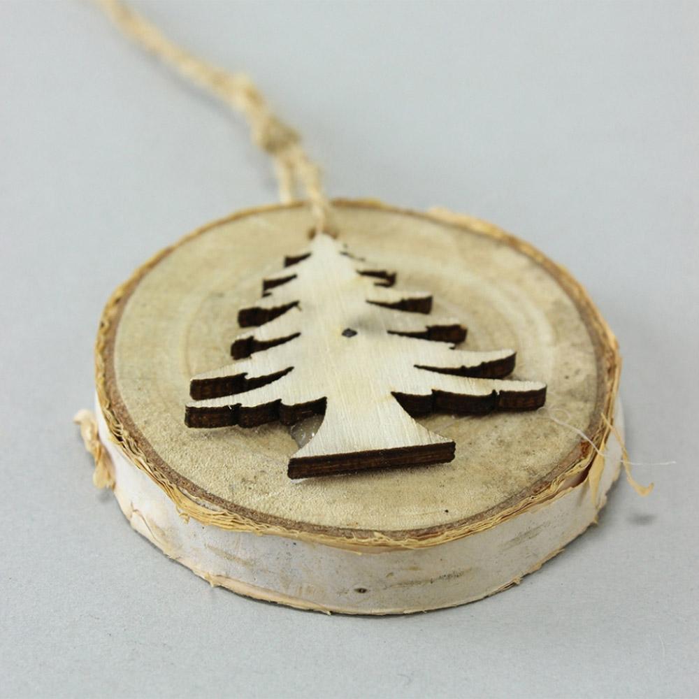 SPICE|聖誕節 天然木 吊飾12個組 (聖誕樹吊飾)