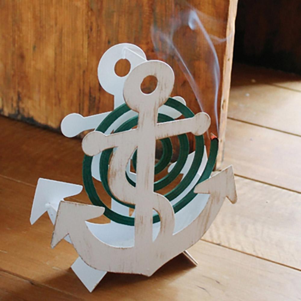 SPICE|日本進口 造型蚊香盒- 白色船錨
