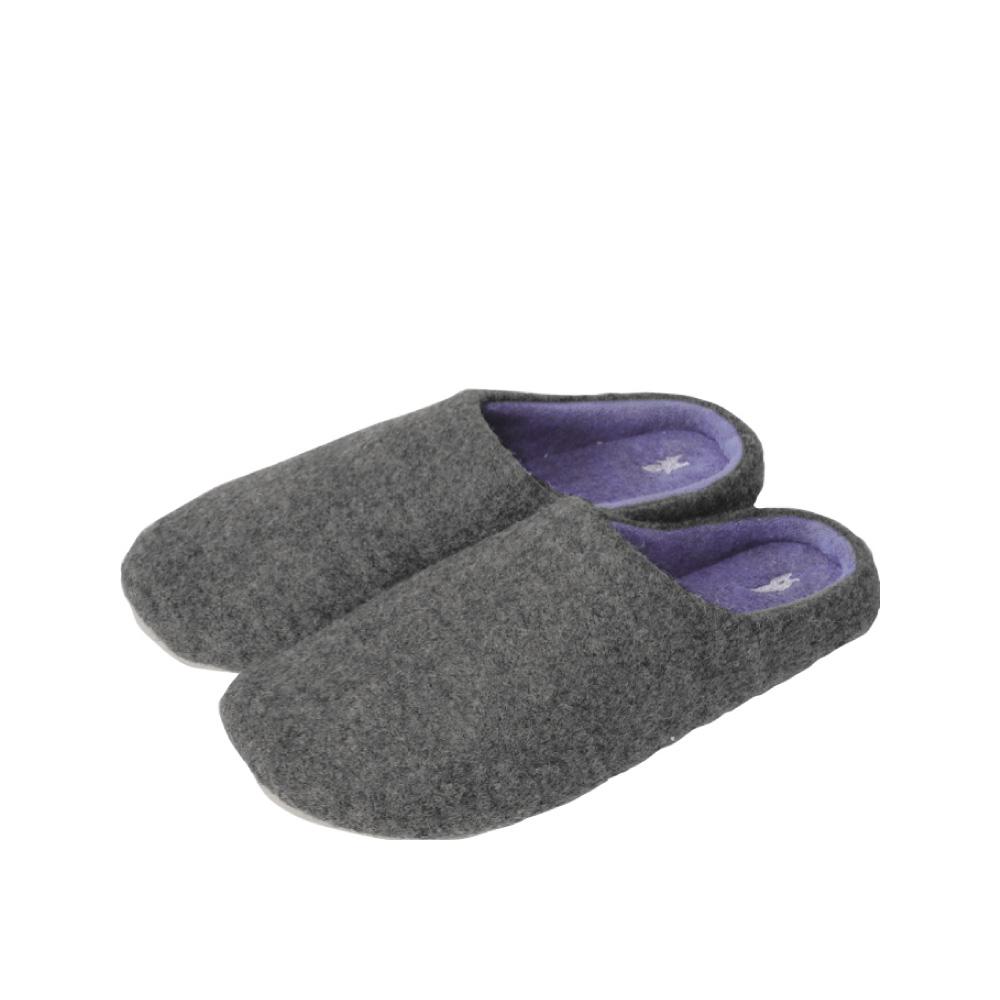 SPICE|日本進口羊毛氈室內拖鞋(M)(成人用)-灰色