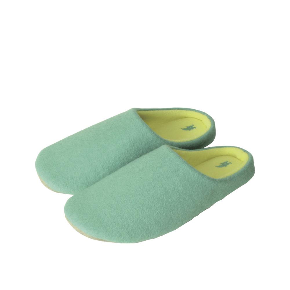 SPICE|日本進口羊毛氈室內拖鞋(M)(成人用)-薄荷綠