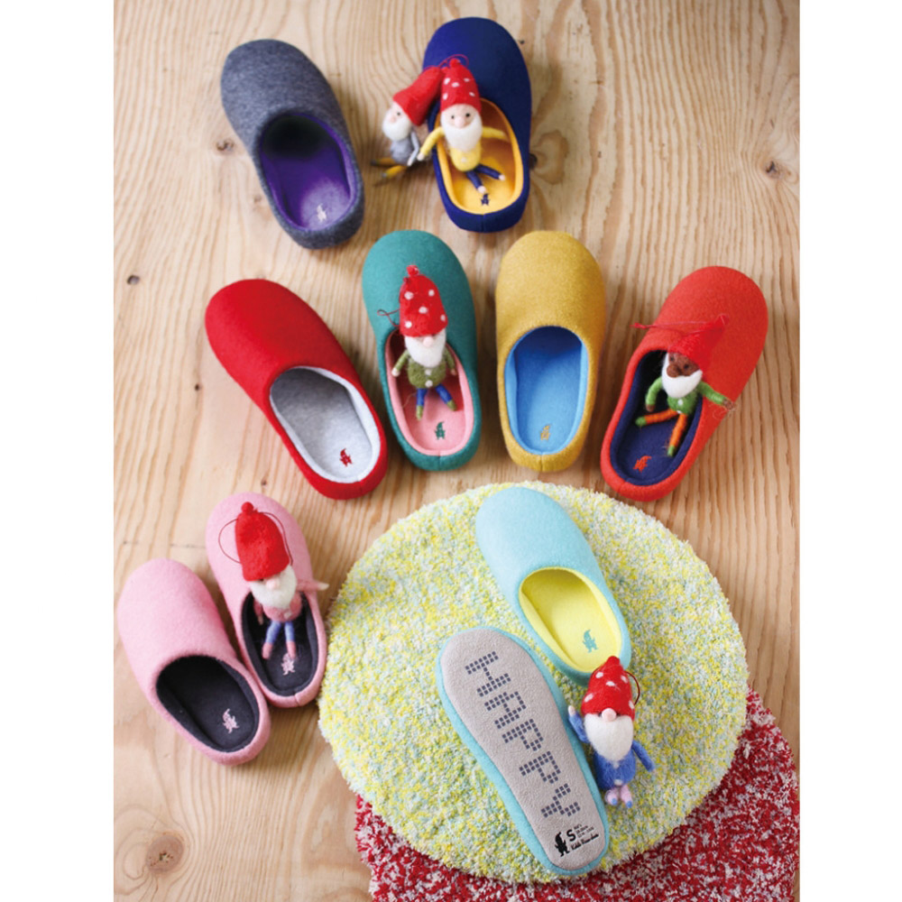 SPICE|日本進口羊毛氈室內拖鞋(M)(成人用)-金黃色