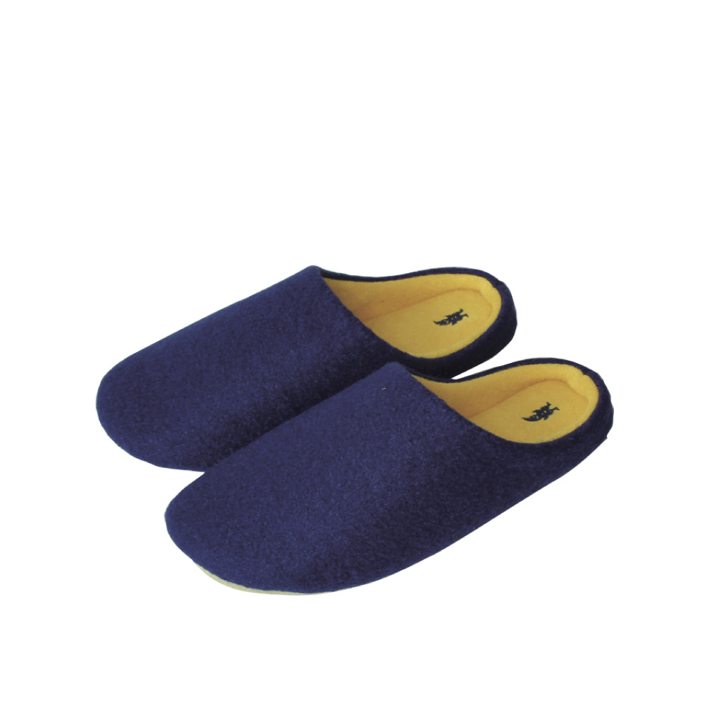 SPICE|日本進口羊毛氈室內拖鞋(L)(成人用)-深藍色