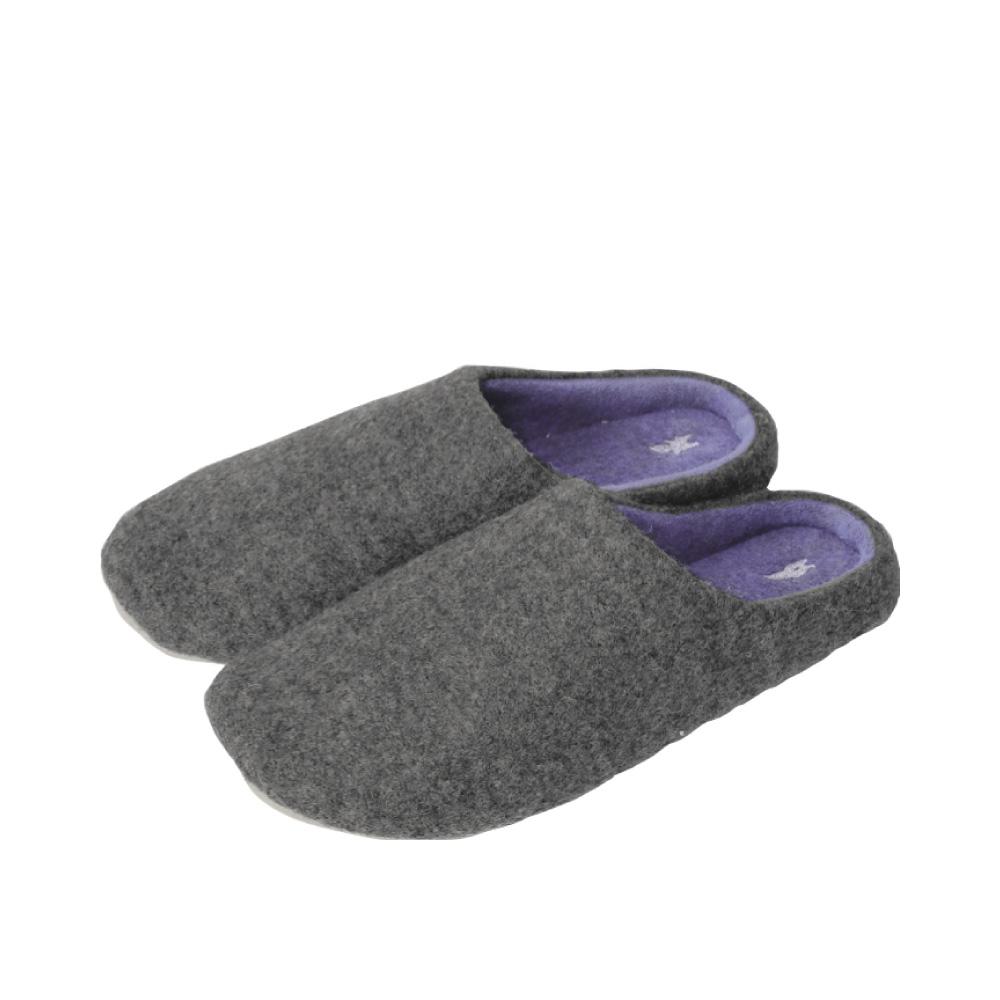 SPICE|日本進口羊毛氈室內拖鞋(L)(成人用)-灰色