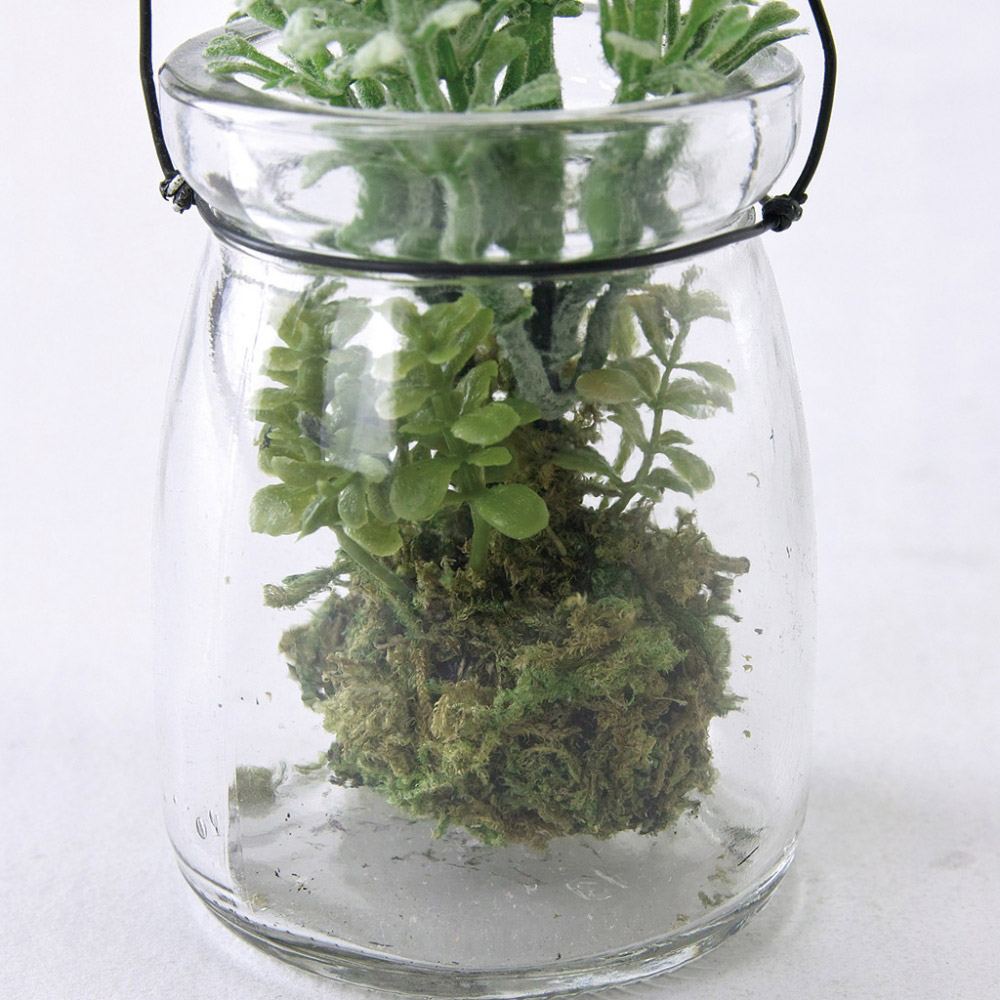 SPICE|日本超仿真小碎花玻璃瓶擺飾 3色組(可吊掛式)