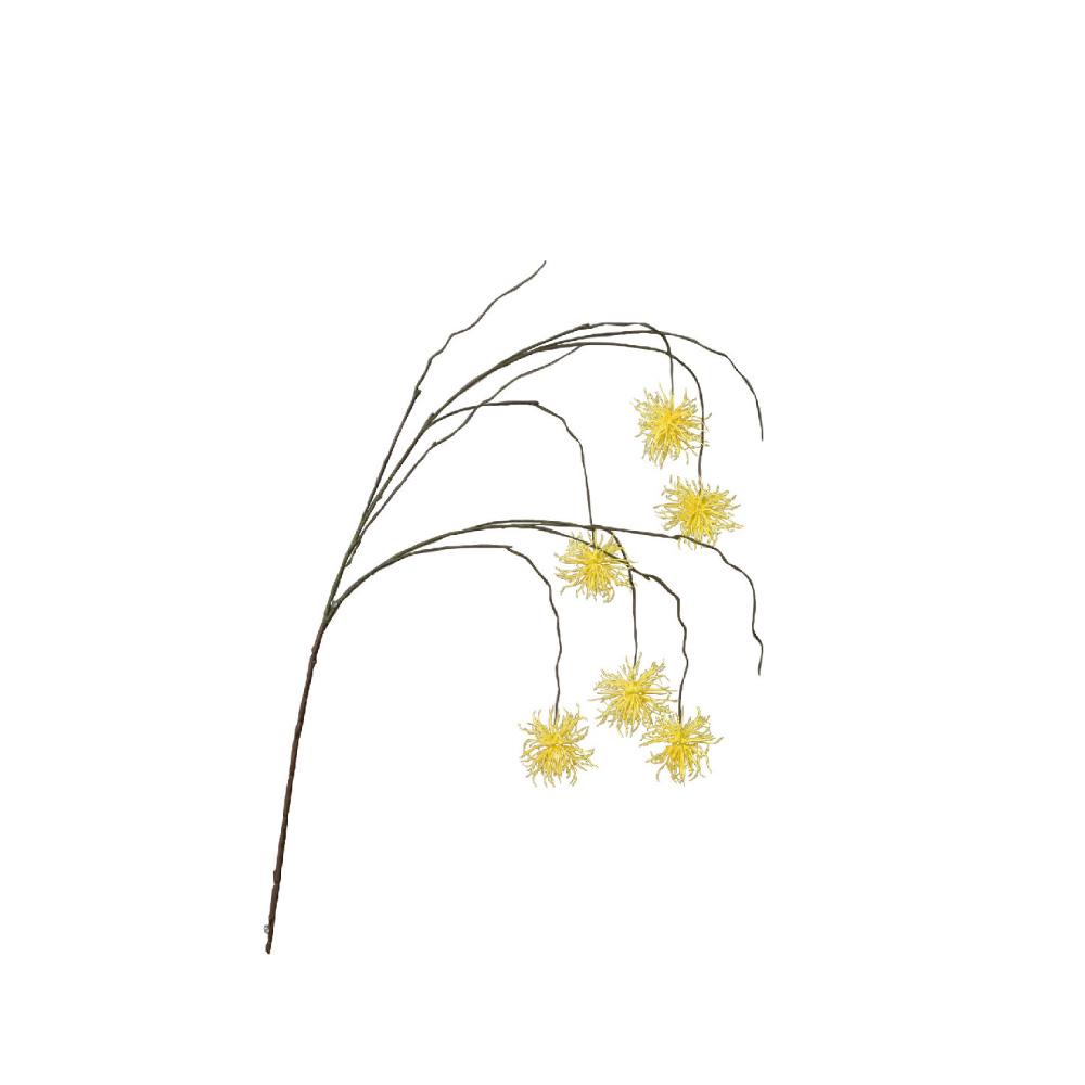 SPICE|日本超仿真人花 -人造垂頭翠菊(黃色)