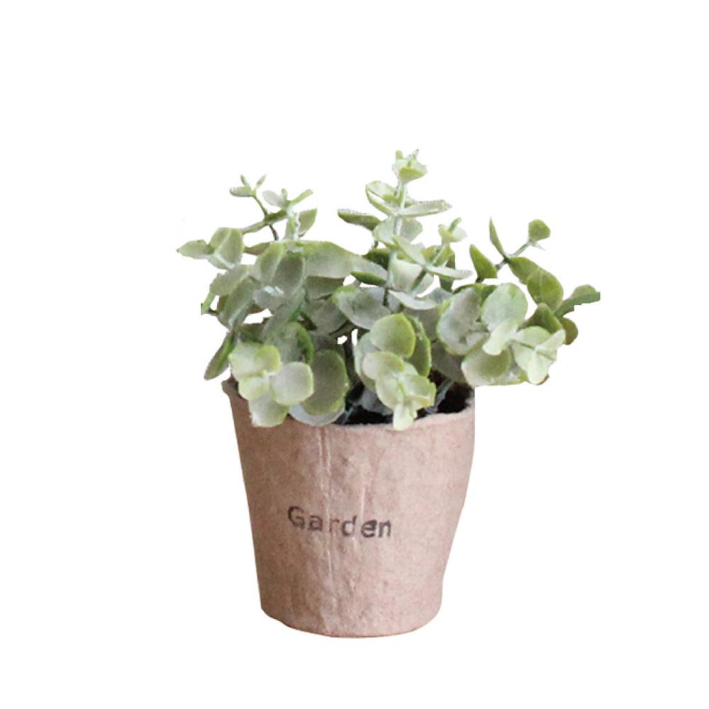 SPICE 日本超仿真 人造綠色植物 -觀葉植物(訪舊紙盆栽A)