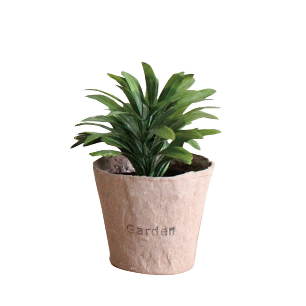 SPICE|日本超仿真 人造綠色植物 -觀葉植物(訪舊紙盆栽B)