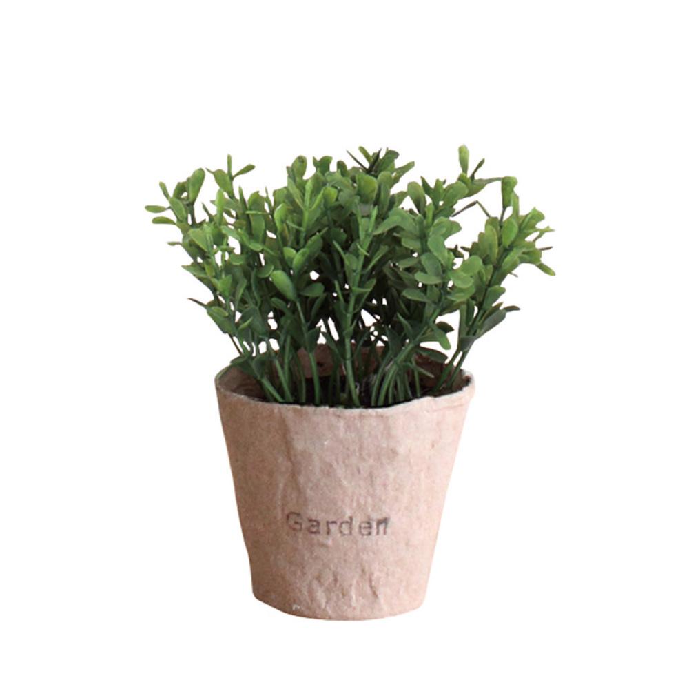 SPICE|日本超仿真 人造綠色植物 -觀葉植物(訪舊紙盆栽C)