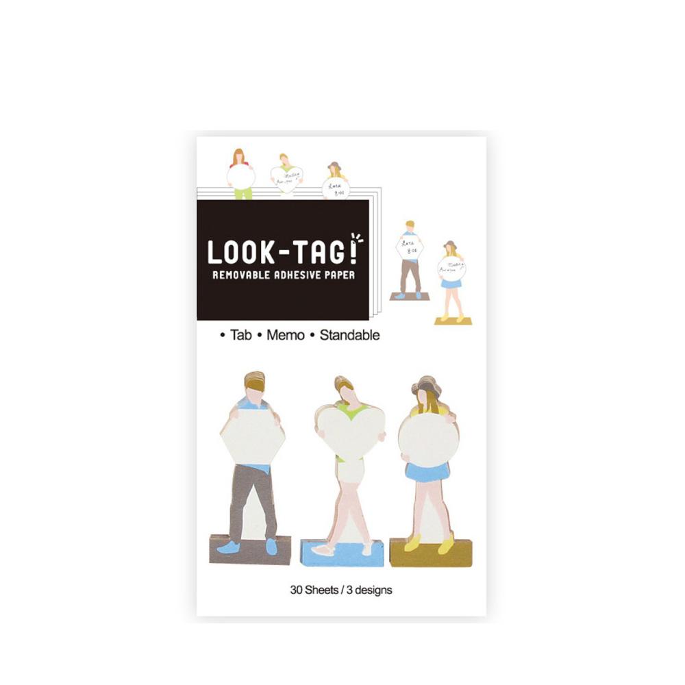 SPICE|日本LOOK-TAG! 設計便利貼/留言卡- 藍色