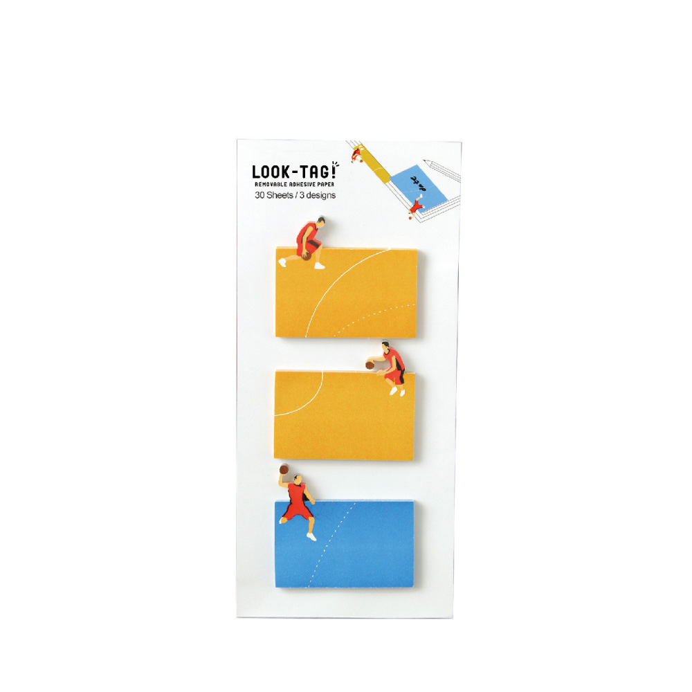 SPICE|日本LOOK-TAG! 設計便利貼/書籤- 籃球