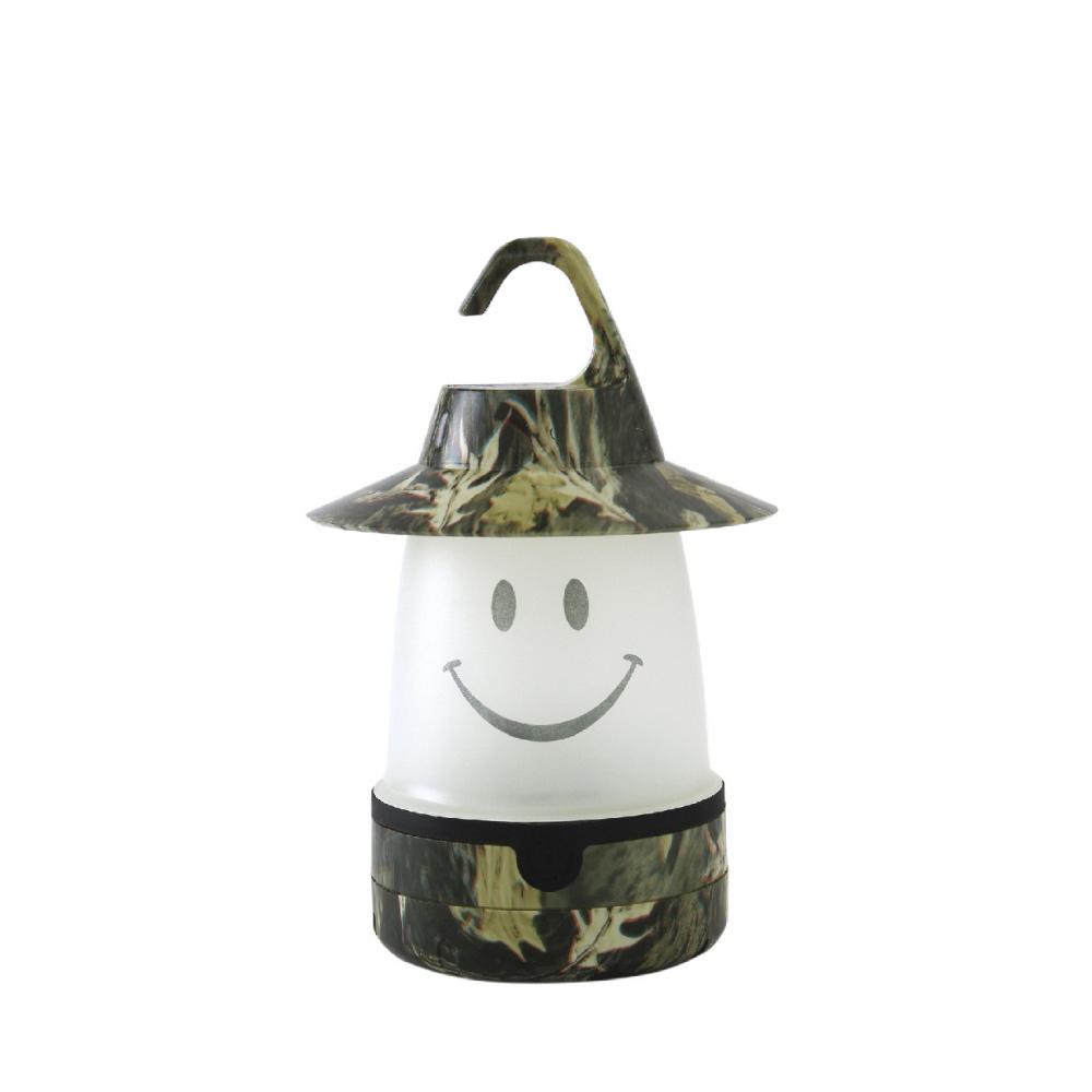 SPICE 日本戶外/室內兼用 微笑LED提/掛燈(露營燈)-卡其色迷彩
