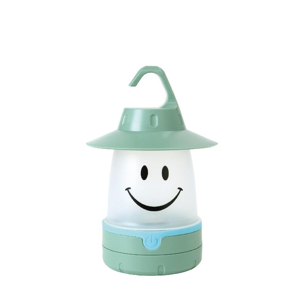 SPICE|日本戶外/室內兼用 微笑LED提/掛燈(露營燈)-薄荷綠色