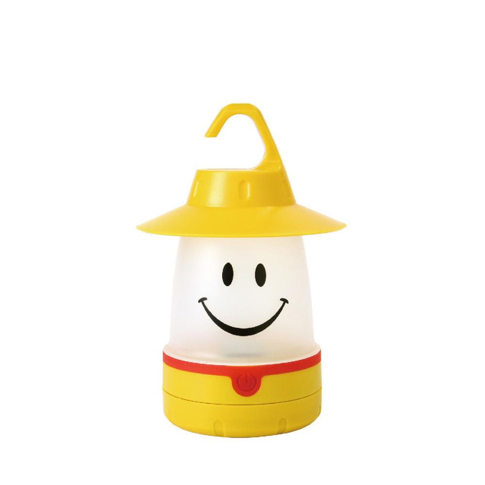 SPICE 日本戶外/室內兼用 微笑LED提/掛燈(露營燈)-蒲公英黃色