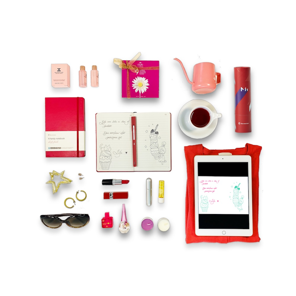 NeoLAB|Neo smartpen 時尚桃紅筆記組(紅色)