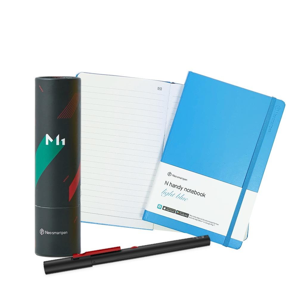 NeoLAB|Neo smartpen 時尚粉藍筆記組(黑色)