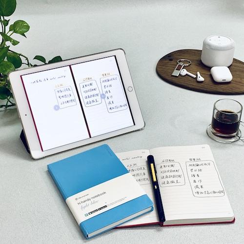 NeoLAB|Neo smartpen 時尚粉藍筆記組(灰色)