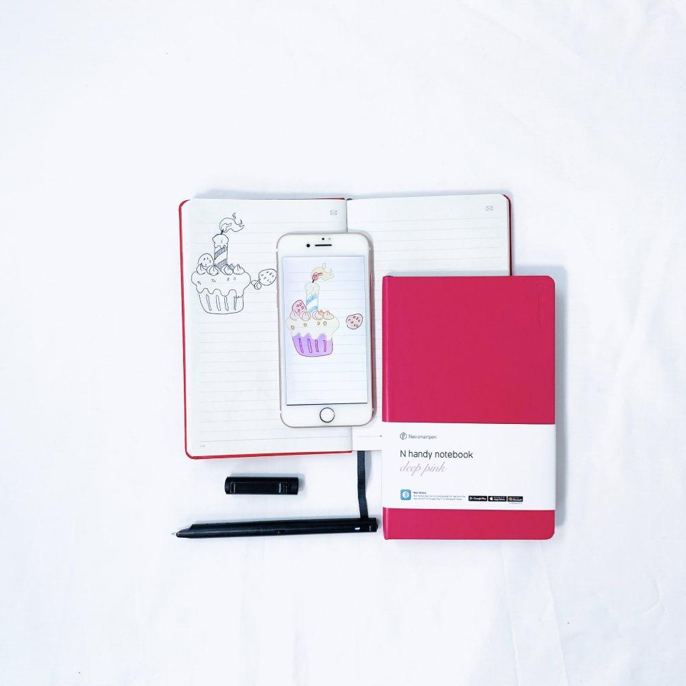 NeoLAB|Neo smartpen M1+(plus)智慧筆時尚桃紅組