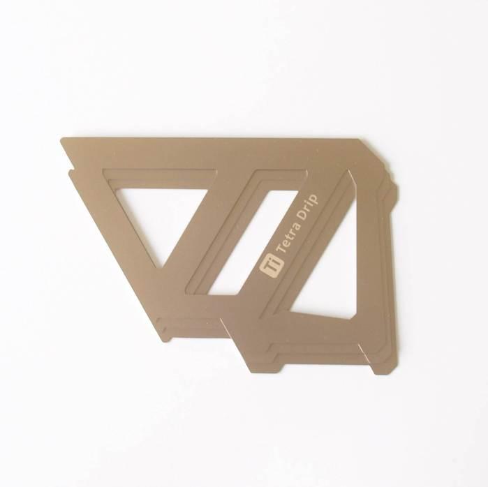 【MUNIEQ】Tetra Drip 01T 攜帶型濾泡咖啡架(Titanium)