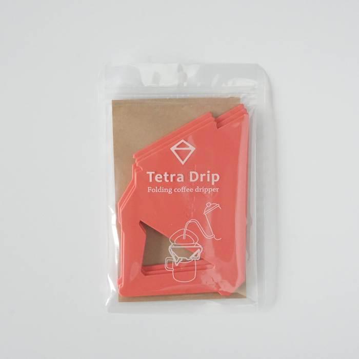 【MUNIEQ】Tetra Drip 02P 攜帶型濾泡咖啡架- Red