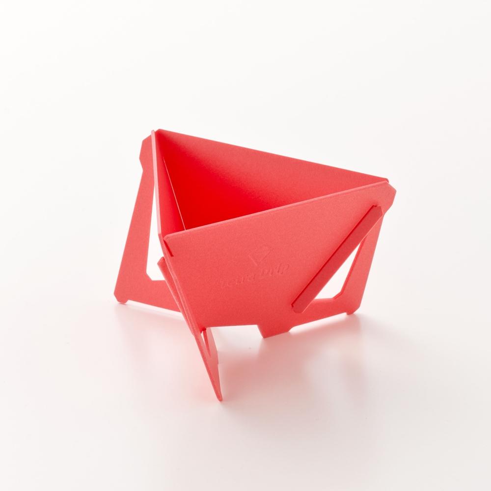 MUNIEQ|Tetra Drip 01P 攜帶型濾泡咖啡架- Red