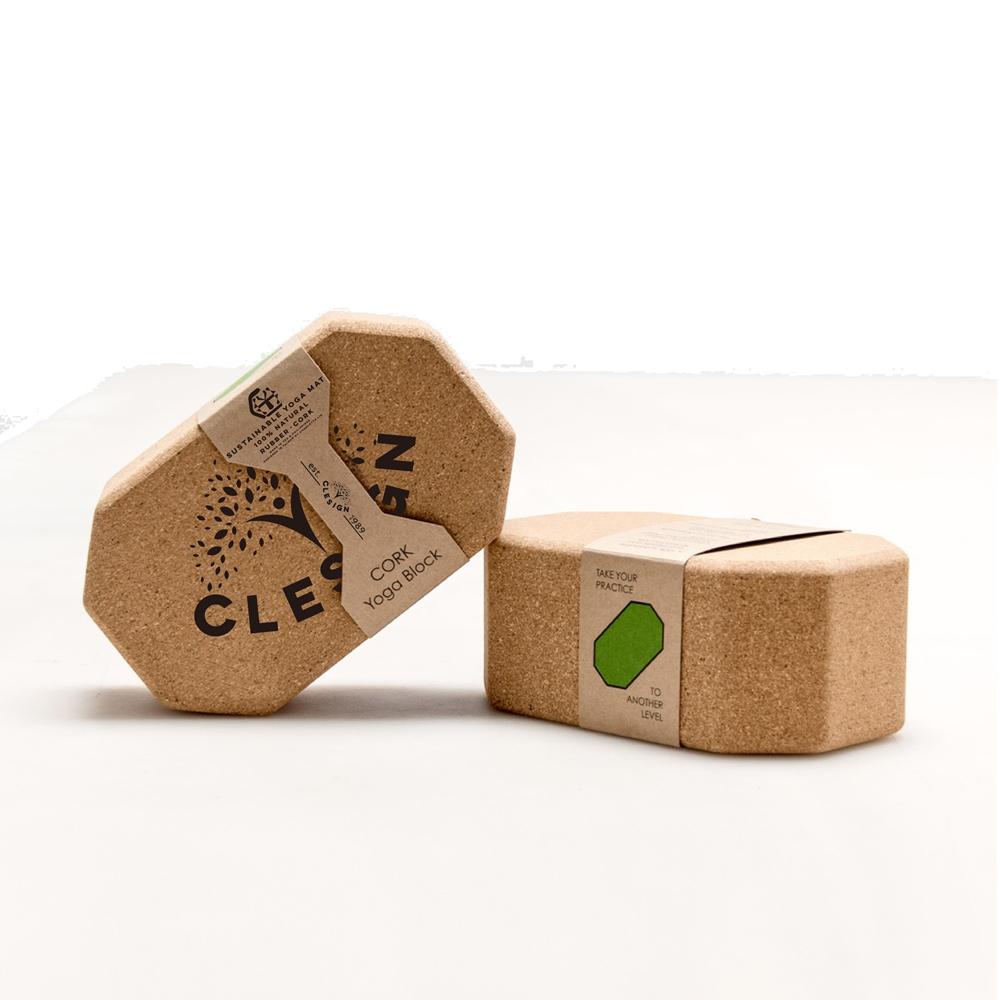 Clesign|Cork block 無限延伸軟木瑜珈磚