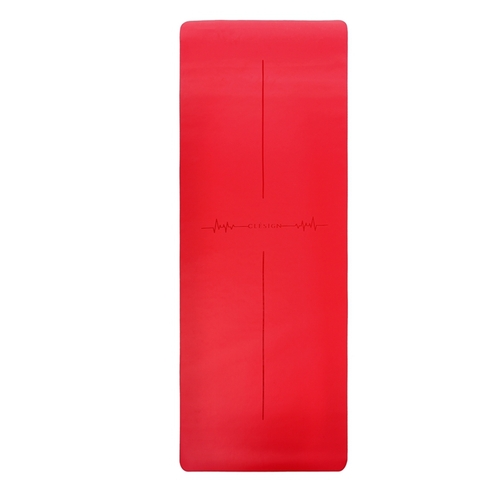 Clesign Pro Yoga Mat - Follow The Heartbeat 瑜珈墊 4.5mm - Heart Red