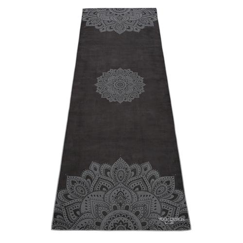 YogaDesignLab|Yoga Mat Towel 瑜珈舖巾 - Mandala Black