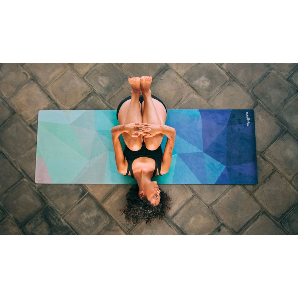 YogaDesignLab|Combo Mat 天然橡膠瑜珈墊3.5mm - Geo Blue