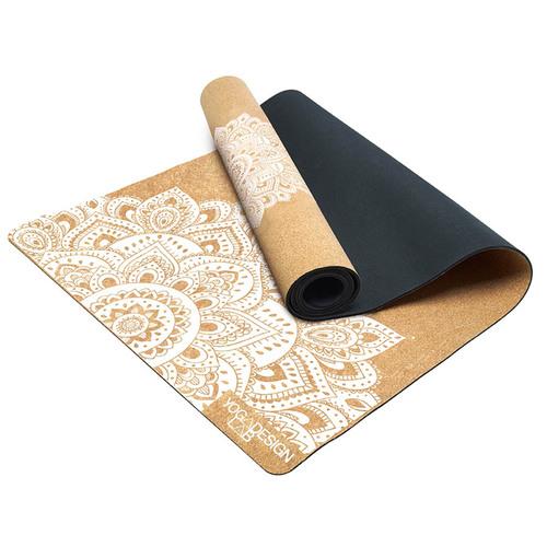 YogaDesignLab|Cork Mat 軟木瑜珈墊 3.5mm – Mandala White