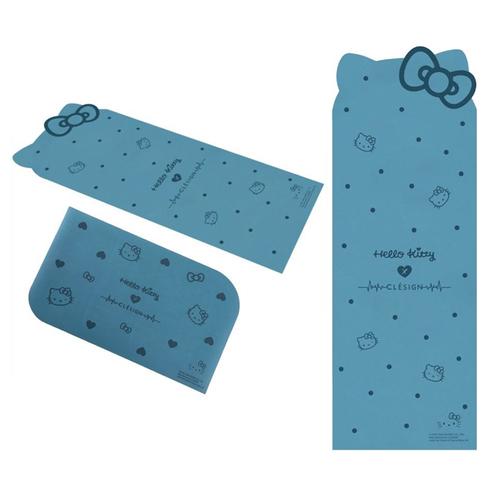 Clesign|Hello Kitty 限定聯名款瑜珈墊 4.5mm + 手墊 - Blue