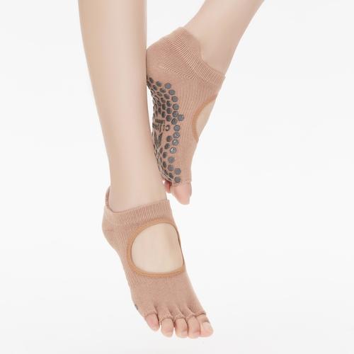 Clesign|Toe Grip Socks 瑜珈露趾襪 - Nude Pink