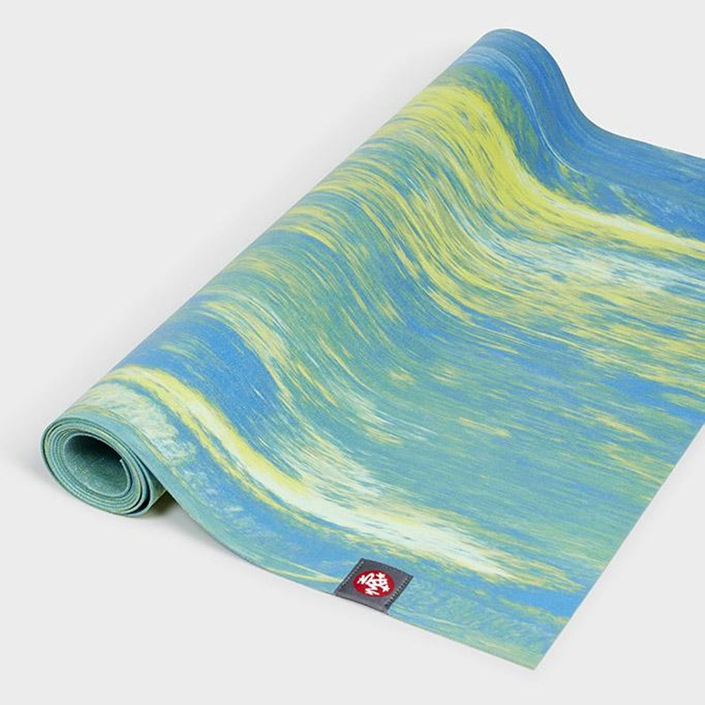Manduka|eKo SuperLite Travel Mat 旅行瑜珈墊 1.5mm - Digi Lime Marbled