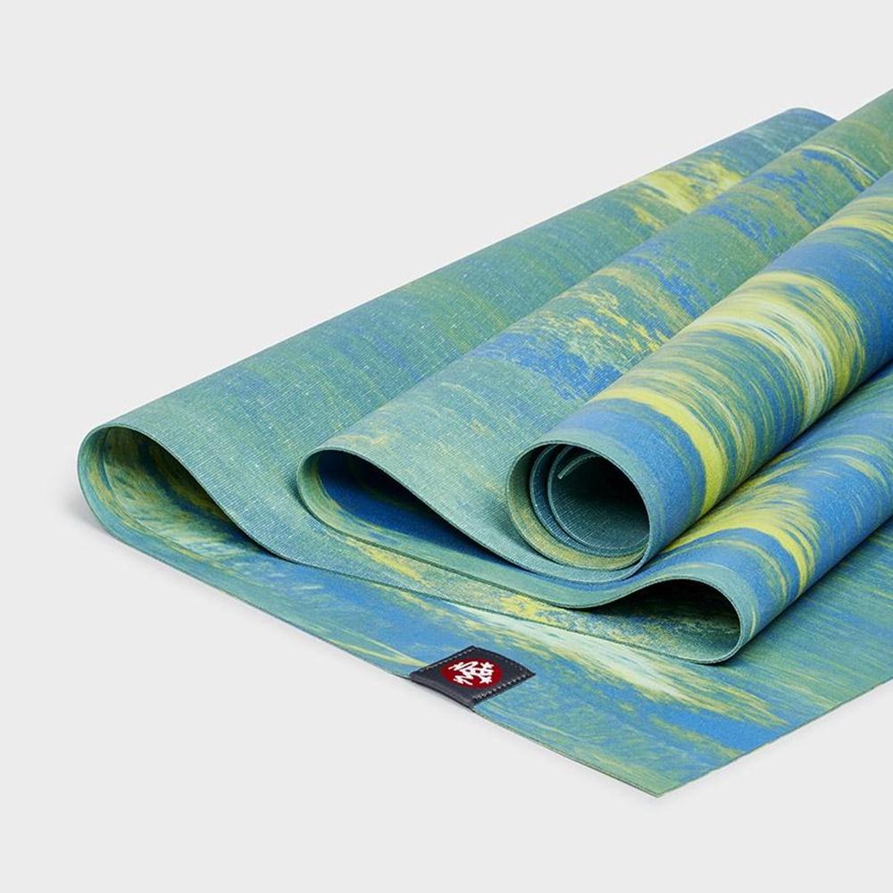Manduka|eKo SuperLite Travel Mat 旅行瑜珈墊 1.5mm - Digi Lime Marbled