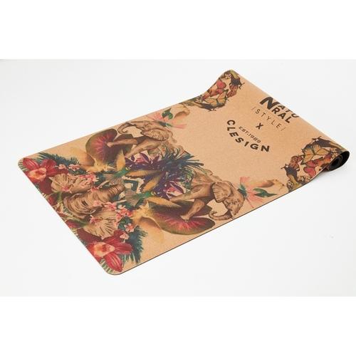 Clesign|Eco Cork Yoga Mat 軟木瑜珈墊 5mm - Flowering Elephants