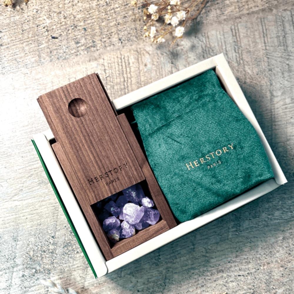 HERSTORY|頂級原木水晶擴香盒 Aroma Crystal Box
