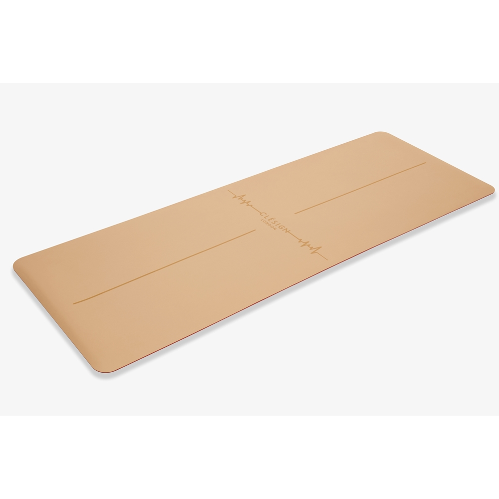 Clesign Pro Yoga Mat - Follow The Heartbeat 瑜珈墊 4.5mm - Ormer Brown