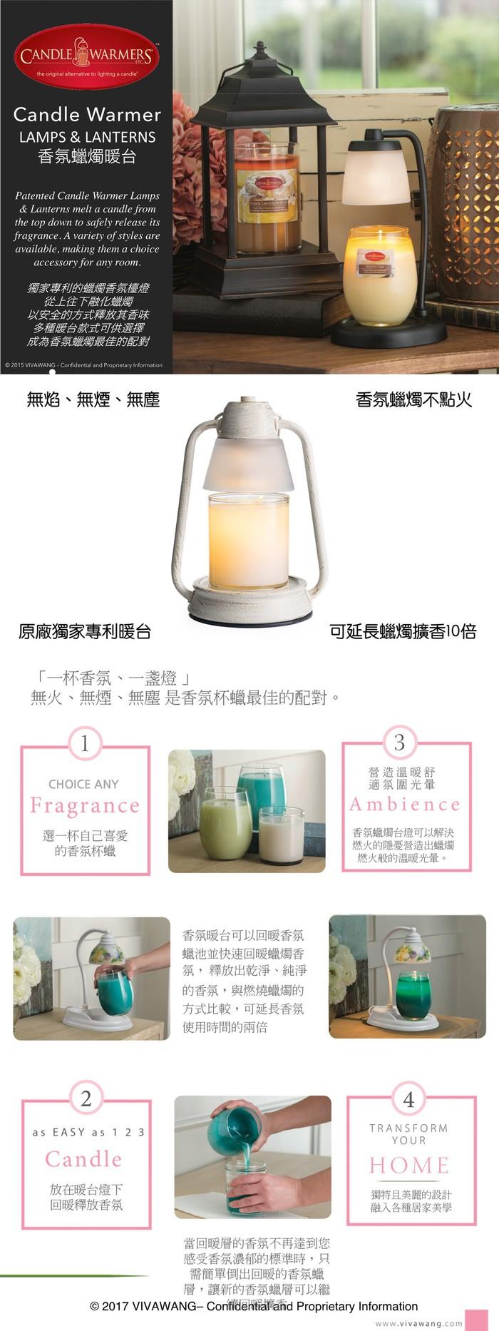 Candle Warmers|香氛擴香暖台 精巧暖檯燈(仿刷浮木白)