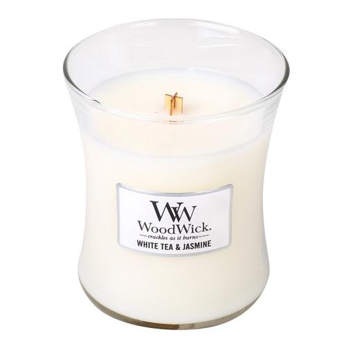 WOODWICK|美國精緻居家香氛 9.7oz香氛杯蠟經典款(白茶茉莉)